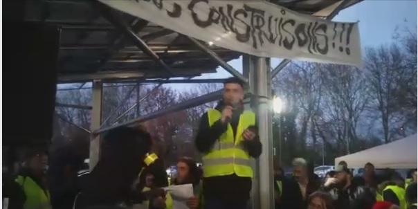 """Тулуза: Анархо-синдикалисты участвуют в движении """"желтых жилетов"""""""