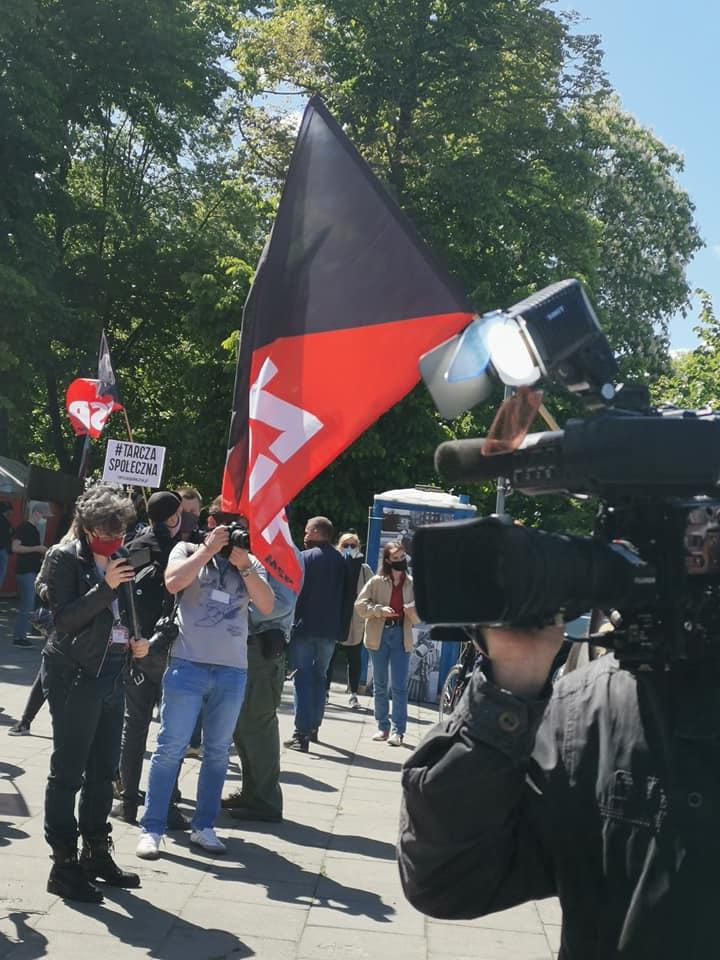 Анархисты провели протест перед сеймом Польши