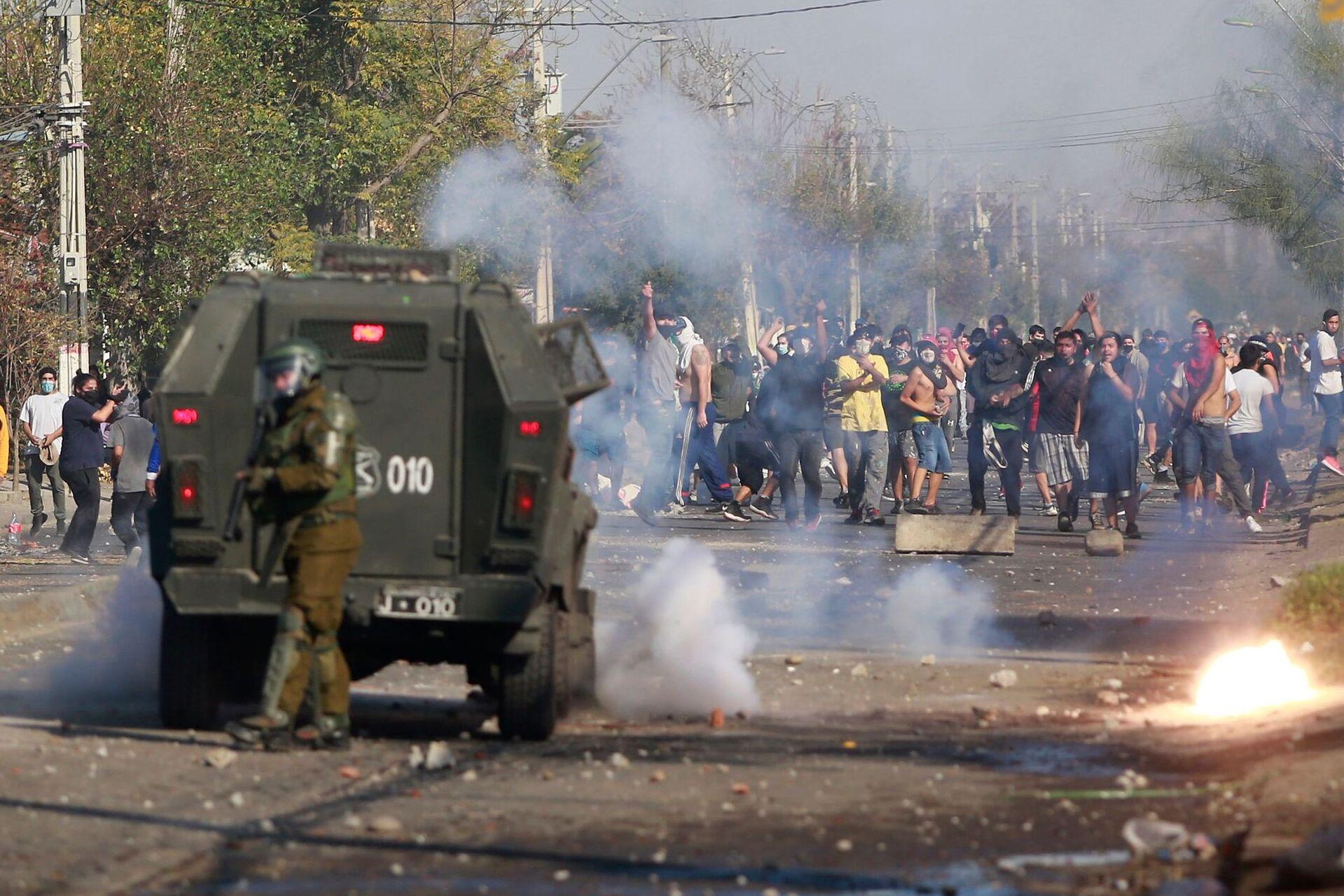 Чили: Голодные бунты