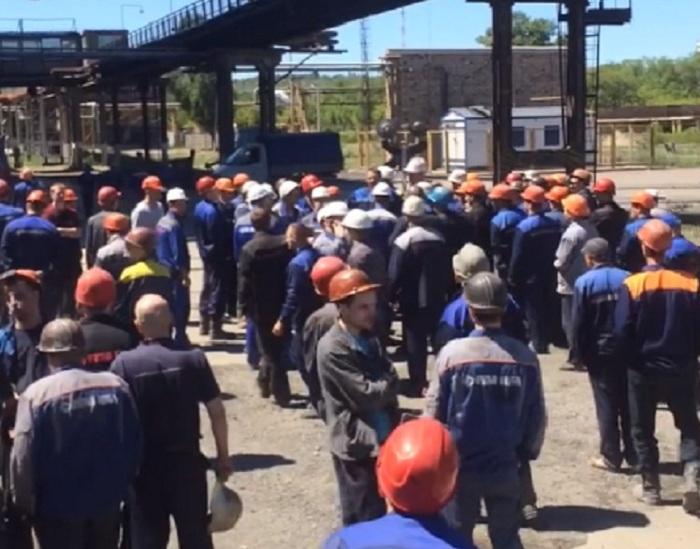 Забастовка металлургов в Волгограде