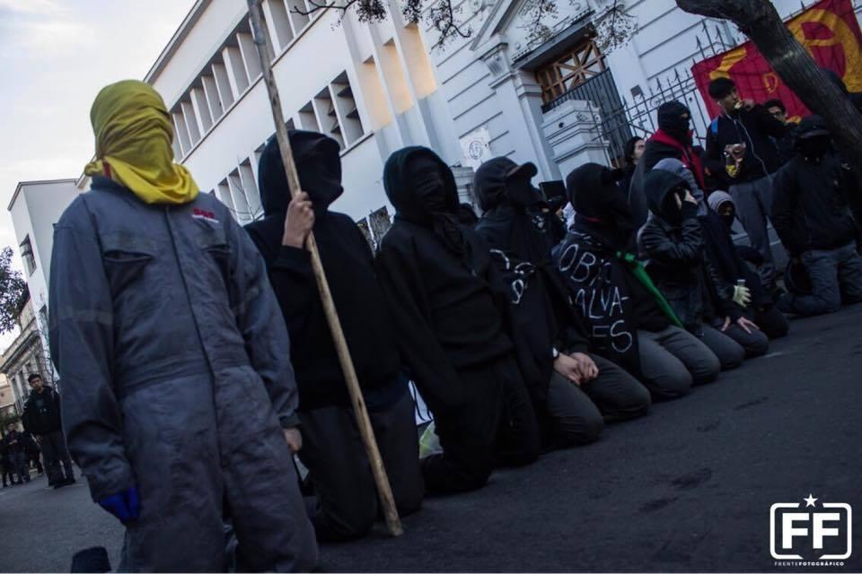 Протесты школьников в Чили