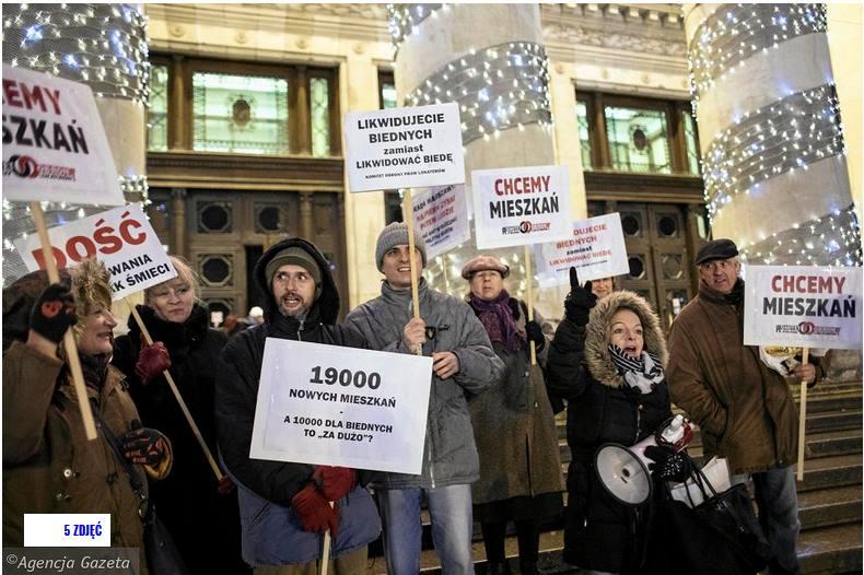 Варшава: Акция протеста движения жильцов