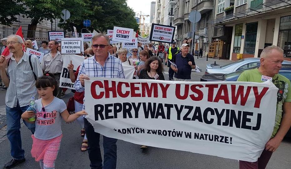Демонстрация протеста жильцов в Варшаве