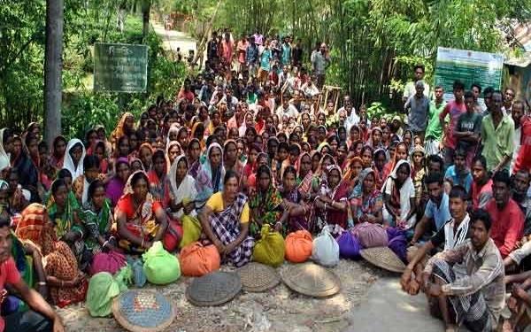 Протест работников чайных плантаций в Бангладеш