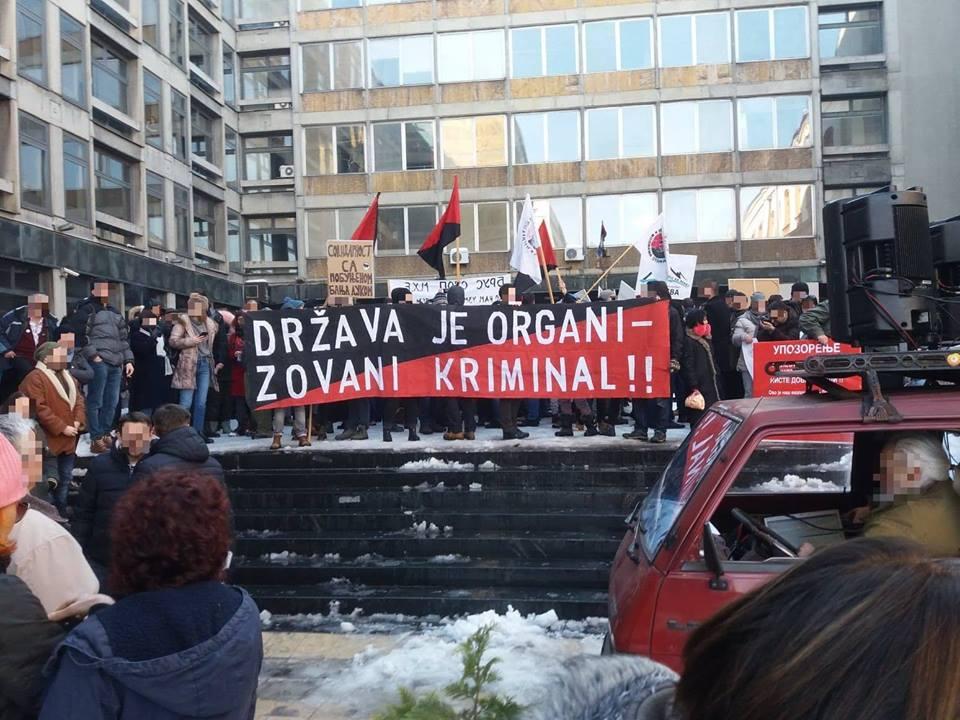 Сербия: Анархо-синдикалисты поддержали экологический протест