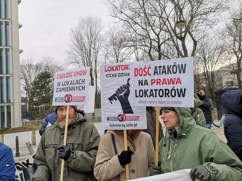 Варшава: Протест квартиросъемщиком перед Сеймом