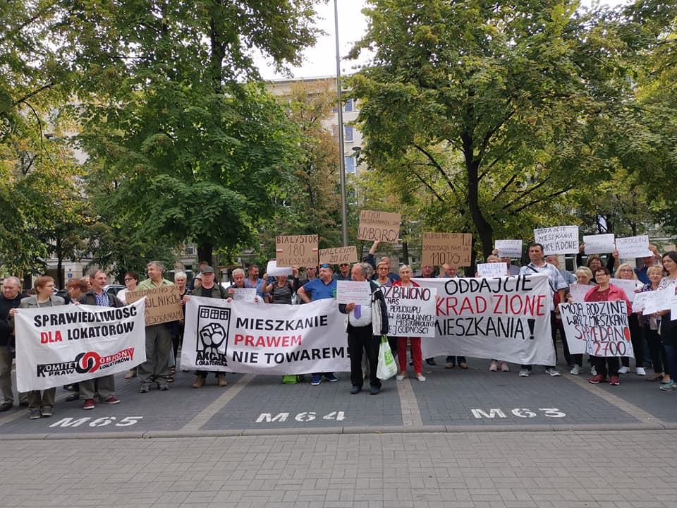 Варшава: Демонстрация выселенных жильцов