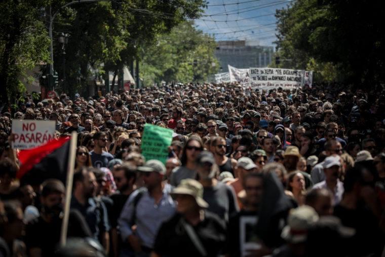 Массовая акция протеста в Экзархии