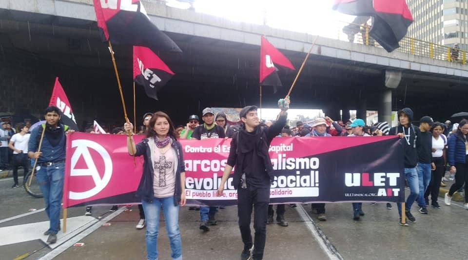 Протест против неолиберального капитализма в Колумбии