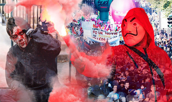 Протесты и столкновения в Париже