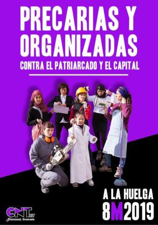 Испания: Анархо-синдикалисты поддержали женскую стачку 8 марта